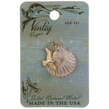 Seashell & Bird Pendant