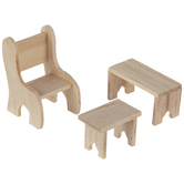 Miniature Chair & Benches