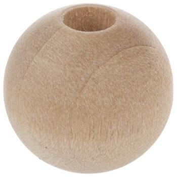 """Round Wood Beads - 1/2"""""""