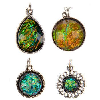 Imitation Black Opal Charms