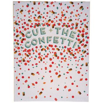 Cue The Confetti Canvas Wall Decor