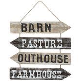 Barn, Pasture & Farmhouse Arrows Wood Wall Decor