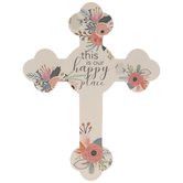 This Is Our Happy Place Wood Wall Cross