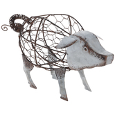 Chicken Wire Metal Pig