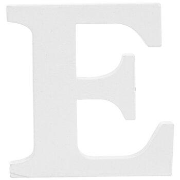 """White Wood Letter E - 3"""""""