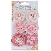 Pink Droplet Rose Flower Embellishments