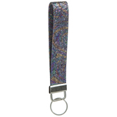 Iridescent Purple Swirl Keychain