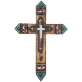 Turquoise Double Wall Cross