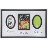 Mr & Mrs Collage Wood Wall Frame