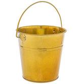 Gold Metal Bucket