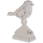Distressed White Bird Finial