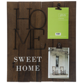 Home Sweet Home Wood Clip Collage Frame