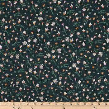 Green Multi Trendy Floral Apparel Fabric