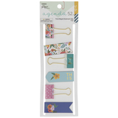 Floral Magnet Bookmarks & Binder Clips