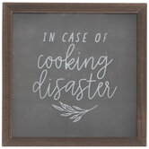In Case Of Cooking Disaster Wood Coin Bank