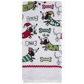 Christmas Dogs & Bones Kitchen Towel