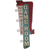 Light Up Game Room Metal Wall Decor