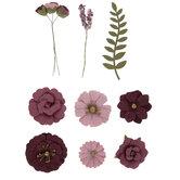 Magenta Flower Embellishments