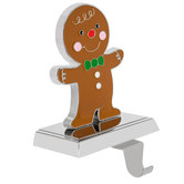 Gingerbread Man Metal Stocking Holder