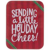 Holiday Cheer Tin Gift Card Holder