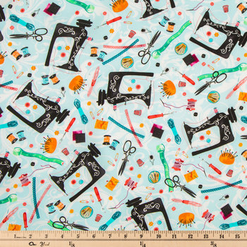 Sky Sewing Cotton Calico Fabric