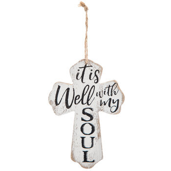 Well With My Soul Wood Wall Cross