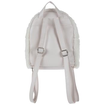White Faux Fur Unicorn Backpack