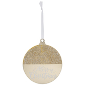 Gold Merry Christmas Ornament Gift Tags