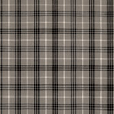 Gray Homespun Plaid Cotton Calico Fabric