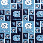 North Carolina Block Collegiate Cotton Fabric
