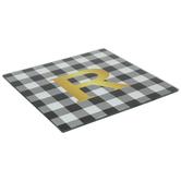 Black & White Buffalo Check Square Trivet - R