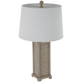 Wood Grain Shutters Lamp