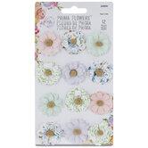 Pastel Beaded Flower Embellishments