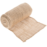 Natural & Silver Metallic Burlap - 6""