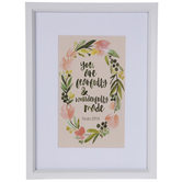 Psalm 139:14 Floral Framed Wall Decor