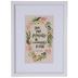 Psalm 139:14 Floral Framed Wall Decor