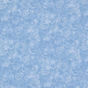 Light Blue Floral Cotton Fabric