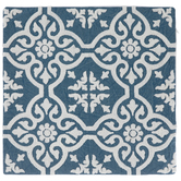 Blue & White Floral Pillow Cover