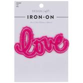 Pink Fuzzy Love Iron-On Applique