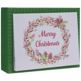 Pinecone & Holly Wreath Christmas Cards