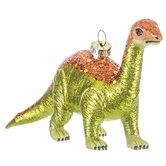 Brown Glitter Brontosaurus Ornament