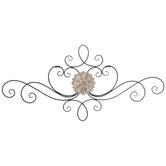 Floral Medallion Metal Wall Decor