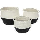Two-Tone Cord Basket Set