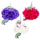 Unicorn Tissue Pom Poms