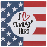 American Flag Hero Wood Wall Decor