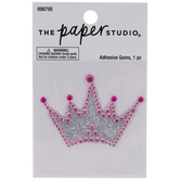 Princess Crown Glitter & Rhinestones Sticker