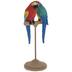 Blue & Red Parrots On Pedestal