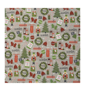 Winter Icons On Wood Gift Wrap