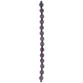 Purple Crackle Glass Bead Strand