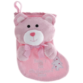 Pink Baby's 1st Christmas 2020 Bear Stocking